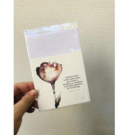 Jeske Wenskaart - Afscheid nemen is met de zachte vinger - Postkaart + enveloppe - 10 x 10cm