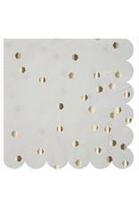 Meri Meri Serviettes | Zilver Zeshoekjes | 16st | 13 x 13 cm