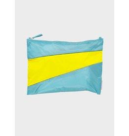 Susan Bijl Pouch L, Concept & Fluo Yellow - 35 x 25cm