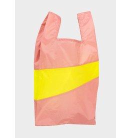 Susan Bijl Shopping bag L, Try & Fluo Yellow -  37,5 x 69 x 34cm
