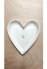 Sent and Meant Bord Hartje - Klein hartje in het midden- Porselein - Ø 15cm