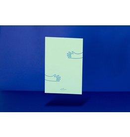 Loovt Wenskaart - Lifelines, Een Knuffel - Deluxe troostkaart Met foliedruk + enveloppe