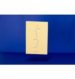 Loovt Wenskaart - Lifelines, Kus op je voorhoofd - Deluxe troostkaart Met foliedruk + enveloppe