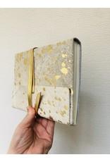 Lamali Boek Nevada Grand - Een uitbarsting van de zon - Zachte leren kaft  - Lineaal gestikte binding - 200 ivoren pagina's - Handgemaakt 100% katoenpapier - 15 x 20 cm
