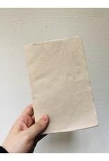 Lamali Boek Laisse - Beige - Zachte papieren kaft  - Gestikte binding - 80 ivoren pagina's - Handgemaakt 100% katoenpapier - 12,5  x 19 cm
