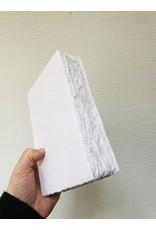 Lamali Boek Laisse - Wit - Zachte papieren kaft  - Gestikte binding - 80 ivoren pagina's - Handgemaakt 100% katoenpapier - 12,5  x 19 cm