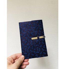 Lamali Boekje Escapade - Blauw Libelle - Zachte papieren kaft  - 20 ivoren pagina's - Handgemaakt 100% katoenpapier - 10  x 15,5 cm