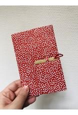 Lamali Boekje Escapade - Roos Vlekjes - Zachte papieren kaft  - 20 ivoren pagina's - Handgemaakt 100% katoenpapier - 10  x 15,5 cm