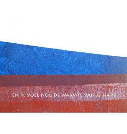 Lies Van Acker Wenskaart - En ik voel nog de warmte van je hart - Postkaart + envelop