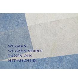 Lies Van Acker Wenskaart - We gaan verder- Postkaart + envelop