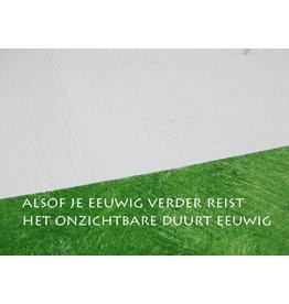 Lies Van Acker Wenskaart - Alsof je eeuwig verder reist - Postkaart + envelop