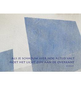 Lies Van Acker Wenskaart - Als je schaduw hier nog altijd valt  - Postkaart + envelop