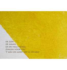 Lies Van Acker Wenskaart - De zon De maan - Postkaart + envelop