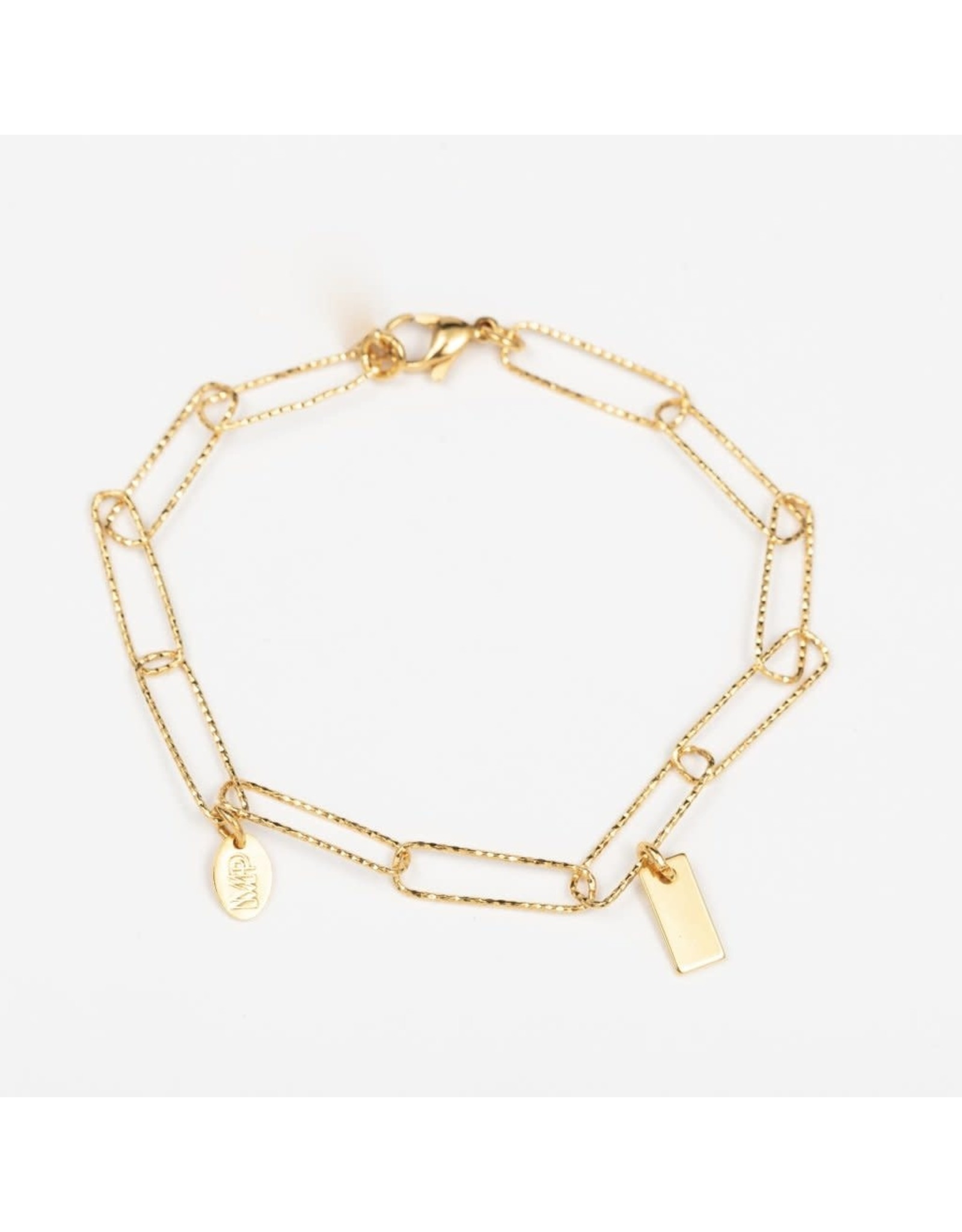 Murielle Perotti armband MP eline schakels/ goud