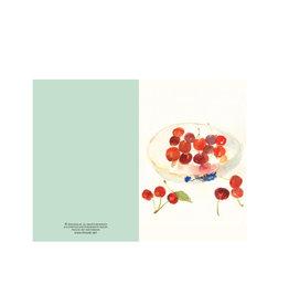 Ping He Art Wenskaart - Cherry Plate - Dubbele kaart + enveloppe - A6