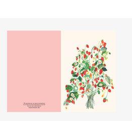 Ping He Art Wenskaart - Strawberries - Dubbele kaart + enveloppe - A6