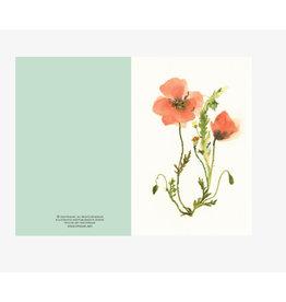 Ping He Art Wenskaart - Tender Poppies - Dubbele kaart + enveloppe - A6