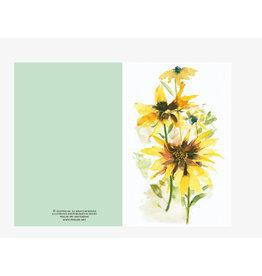 Ping He Art Wenskaart - My Sunshine - Dubbele kaart + enveloppe - A6