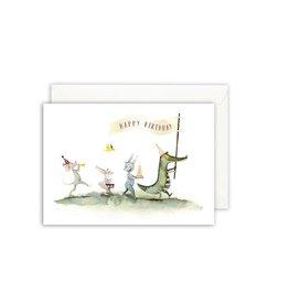 Leo La Douce Wenskaart - Happy Birthday stoet - Postkaart + Envelope - 10 x 15cm