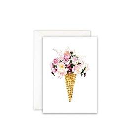 Leo La Douce Wenskaart - Bloemenijsje  - Postkaart + Envelope - 10 x 15cm
