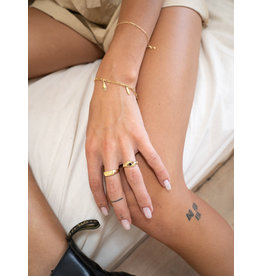 Flawed Armband | Goud | Blad + Handje