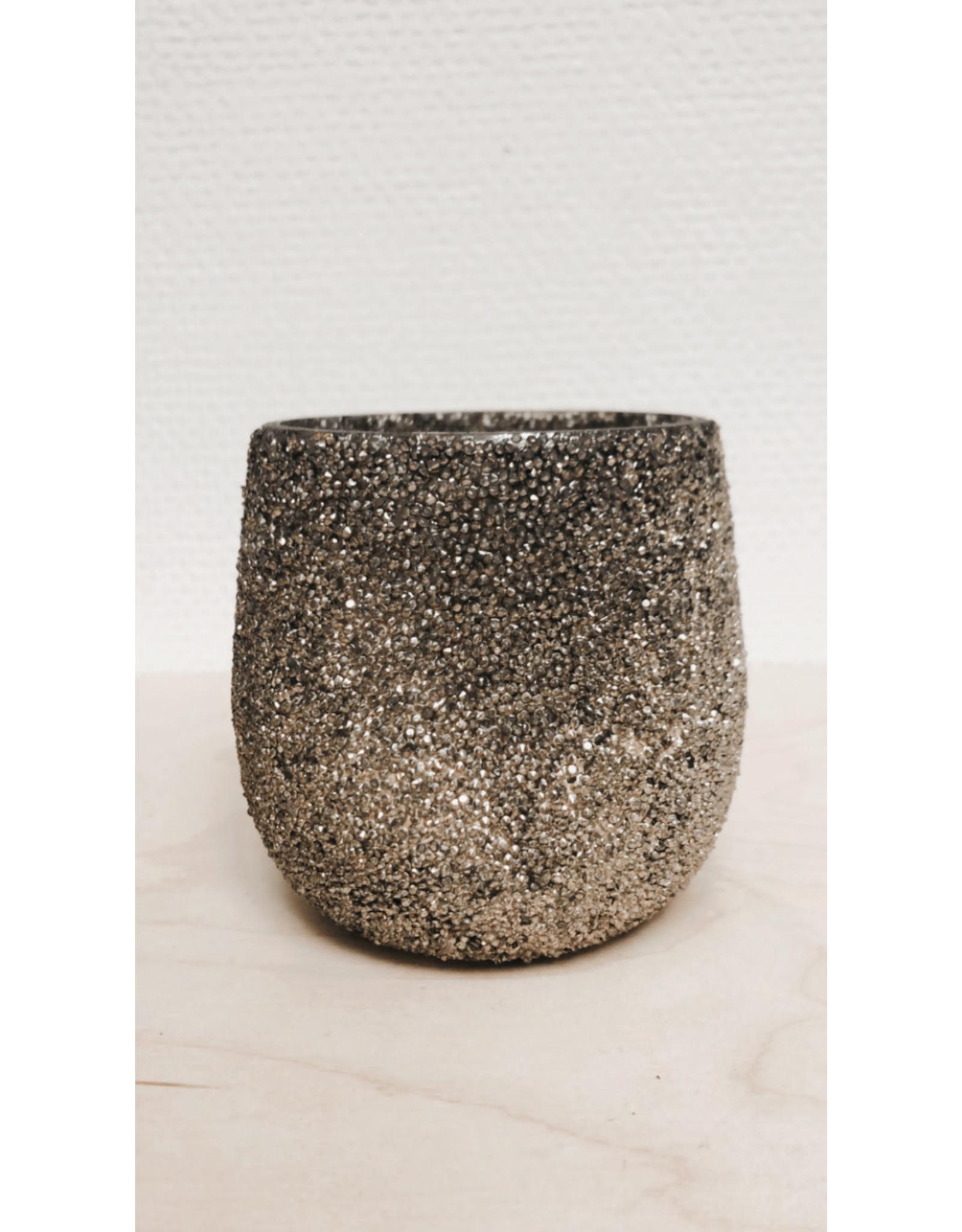 Madam Stolz Bloempot - kleine steentjes -  Ø 8,5cm H 10cm