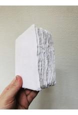 Lamali Boek Laisse - Wit - Zachte papieren kaft  - Gestikte binding - 80 ivoren pagina's - Handgemaakt 100% katoenpapier - 9,5  x 13,5 cm