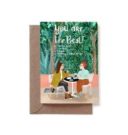 Reddish Design Wenskaart - You are the best friend - Dubbele kaart + Envelope - 10 x 15cm