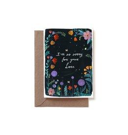 Reddish Design Wenskaart - I'm so sorry for your loss - Dubbele kaart + Envelope - 10 x 15cm