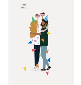 Brein Boerdrei Wenskaart - Van harte - postkaart met envelop - blanco