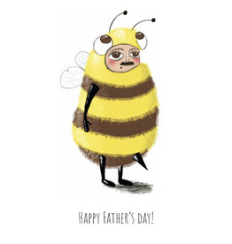 Fries Donche Wenskaart - Bij, Happy Father's Day - Postkaart + Enveloppe - A6