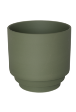 Homedelight Bloempot Nola L - Groen - Keramiek - 15 x 15 cm