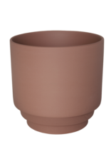 Homedelight Bloempot Nola L - Terracotta - Keramiek - 15 x 15 cm