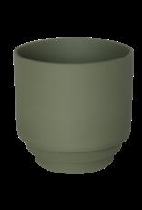 Homedelight Bloempot Nola M - Groen - Keramiek - Ø13 x 13 cm