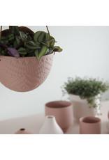 Homedelight Hangende bloempot Lucy - Terracotta - Keramiek - Ø 15,4 x 10