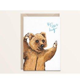 Kathings Wenskaart - Big bear hug - Dubbele kaart + Envelope  - Blanco