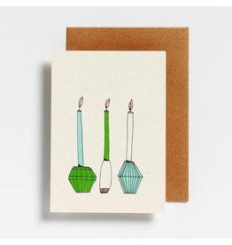 Hello August Wenskaart - Candle light - Postkaart + enveloppe- A6 - Blanco