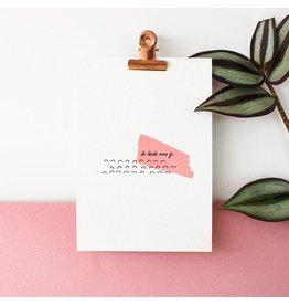 Hello August Wenskaart - Ik denk aan je  - Postkaart + enveloppe- A6 - Blanco