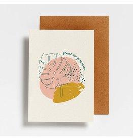 Hello August Wenskaart - Geniet van je pensioen  - Postkaart + enveloppe- A6 - Blanco