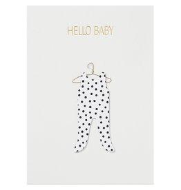 Raeder Wenskaart - Hello baby - Dubbele kaart met envelop