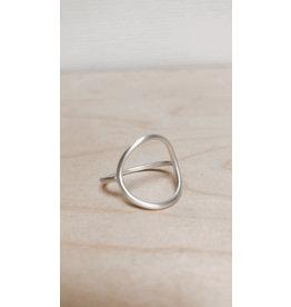 Katwalk Ring - Open Cirkel - Zilver  - Ø 2cm