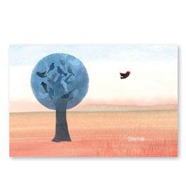 Onar Wenskaart - Een boom vol vogels, Sterkte - Postkaart en Enveloppe - A6