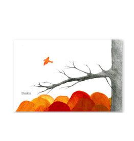 Onar Wenskaart - Vogel die wegvliegt, Sterkte - Postkaart en Enveloppe - A6