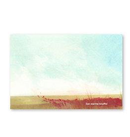 Onar Wenskaart - Veld met bloemen, Een warme knuffel - Postkaart en Enveloppe- A6