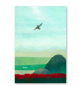 Onar Wenskaart - Zeezicht met vogel, Sterkte - Postkaart en Enveloppe- A6