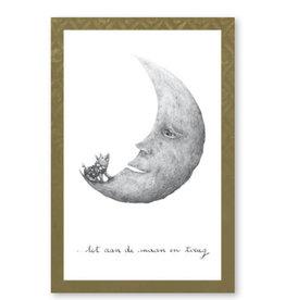 Onar Wenskaart - Tot aan de maan en terug - Postkaart en Enveloppe- A6