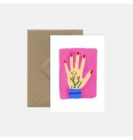 Pink Cloud Studio Wenskaart - Tattoo Hand - Dubbele Kaart met envelop - blanco