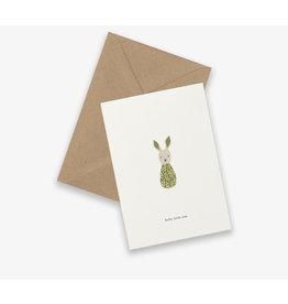 Kartotek Wenskaart - Baby Rattle- Dubbele kaart en Enveloppe - A6