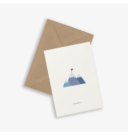 Kartotek Wenskaart - Mountaintop - Dubbele kaart en Enveloppe - A6