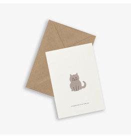 Kartotek Wenskaart - Cat - Dubbele kaart en Enveloppe - A6